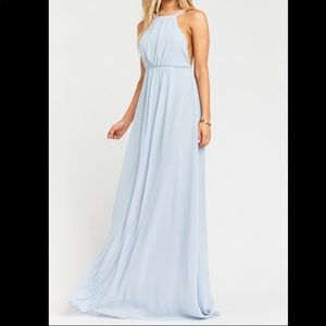 Show Me Your MuMu Amanda Steel Blue Maxi Dress